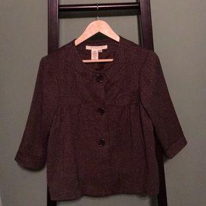 Studio M Cropped Brown Tweed  jacket Sz 4